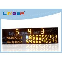 High Brightness LED Baseball Scoreboard For University CE / RoHS Approved Manufactures