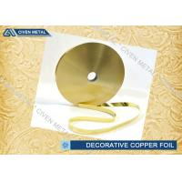 Rolled Brass Decorative Copper Foil With Ordinary Thickness 0.01mm , 0.012mm , 0.015mm Manufactures