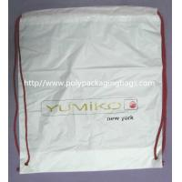 White Lightweight Durable Drawstring Storage Bags With Two PP Drawstring for sale