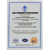CONVA MACHINERY PARTS Co., LTD Certifications