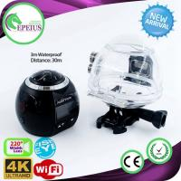 1440p 60fps Wifi Action VR 360 Camera With Fish Eye Len / Panoramic Visual Manufactures