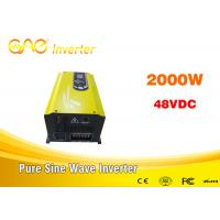 China single phase inverter off gird dc to ac pure sinewave inverter 48v 2000w 220v with charger on sale