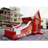 Commercial grade inflatable Christmas jumping castle with slide for kids and adults for sale