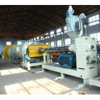 China Single Screw PLC Control 2000kg/h Hdpe Pipe Production Line on sale