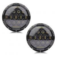 """7"""" Hi Lo Beam 75w Led Jeep Headlights With Aluminum Die Cast Housing Manufactures"""