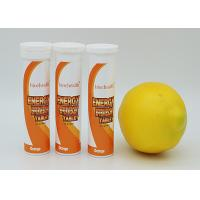 Orange Flavored Energy Release Effervescent Tablets 10 Tablets / Tube GMP Certified