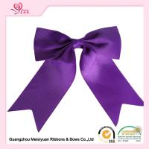 Grosgrain Ribbon Material Gift Wrap Bows Purple / Pink big Ribbon Bows Manufactures