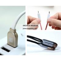 China Remax 1m Colorful 2in1 USB Cable for iPhone, iPad, Micro V8 for Samsung Android Phones Fast Charging Cable on sale