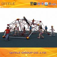 Quality Double Star Shape Ropes Playground Climbing Net With 6pcs Wire - Rope Inside for sale