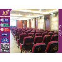 School Lecture High Back Auditorium Conference Hall Chairs With Writing Tablet Manufactures