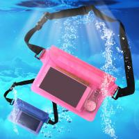 China High quality new design of seal touch screen phone case outdoor swimming diving cellphone Waterproof Sports Waist Bag on sale