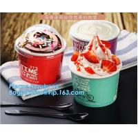 China A series of custom logo printed double PE coated icecream paper cup with lid from Wuhan manufacturer bagplastics bagease on sale
