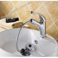 high quality suqare pull out basin faucet mixer tap,bathroom basin mixer faucet,chrome bathroom pull out square basin fa Manufactures