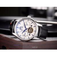 Quality Perfect Replica Omega Speedmaster White Tourbillon Face Rose Gold Smooth Bezel for sale