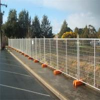 Pre - Galvanized 2400x2100mm Temporary Mesh Fencing , Temporary Site Fencing With Base Manufactures