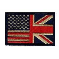 Custom UK Country Flag Patches Great Britain Woven Clothing Embroidered Patches Manufactures