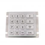 Led lighted die cast keypad with matrix 4x4 brushed 16 metal keypad with full travel keys Manufactures