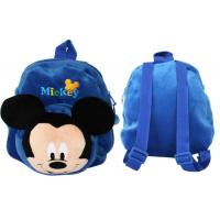 12 inch Blue Mickey Mouse School Bag , Personalized Toddler Backpacks Manufactures
