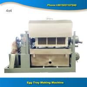 China Semi-automatic sunny dryer  2000 pcs paper molding egg tray machinery on sale