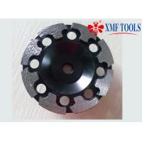 China 4 Inch / 6 Inch Double Row Diamond Cup Grinding Wheel Black T Shape 125mm 180mm on sale