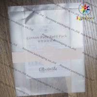 Clear Plastic Cosmetic Packaging Bag For Makeup Cotton Manufactures