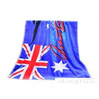"China 30""*60"" Velour Custom Printed Beach Towels With Australian Flag wholesale"