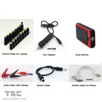 China 12000mah Red USB 12v Car Jump Starter with LED Light , 4 in 1 jump starter on sale
