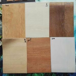 Indoor PVC Floor Covering , Wood Look PVC Vinyl Floor Tiles Thickness 3mm Manufactures