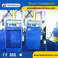Wanshida Hydraulic Waste Oil Drum Crusher Compactor For Sale Manufactures