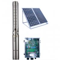 Quality 4 Inch DC Solar Deep Well Submersible Pump , Solar Powered Water Pump For Irrigation for sale