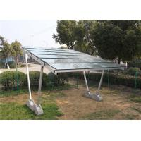 HDG Pole Mounts Solar Carport Structures , 60m/S Wind Load Solar Charging Carport Manufactures