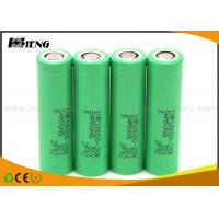 China Samsung INR18650 Green Lithium Rechargeable Battery 25R 2500mah 20A on sale