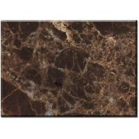 Quality Dark Emperador marble bathroom floor tile for high end hotel or villa projects for sale