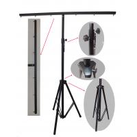 Quality 3m Height Black Truss Light Stand , Steel Material Dj Lighting Stands For for sale