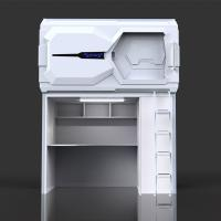 Comfortable Technical Space Capsule Bed With Desk Designed For School Dormitory Manufactures
