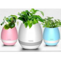 ABS material Smart Touch Plant Piano Music LED Flower Pots Wireless Bluetooth Manufactures