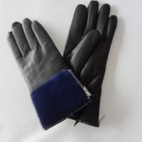 Sheepskin Womens Soft Leather Gloves Wool Lining Simple Classic Style Manufactures