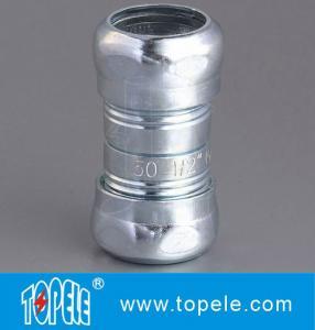 Zinc Plated Steel EMT Compression Coupling , EMT Coupling 1/2 Inch To 4 Inch
