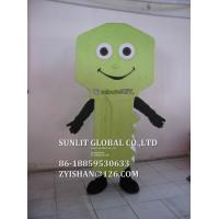 Quality green key mascot costume/customized fur product replicated mascot costume for sale