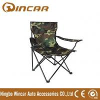 China 600D canvas folding camping chair with armrest and cup holder from Ningbo Wincar on sale