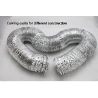 HVAC Systems Alu-PET-Alu small bending radius aluminum flexible ducting Manufactures