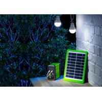 China Commercial Solar Light Kits Outdoor  / 5W  Solar Panel Light Bulb Kit on sale