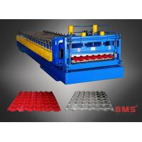 China Aluminum Roof Panel Roll Forming Machine Metal Roof Tile Making Low Noise on sale