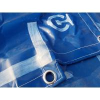 China Waterproof PVC Coated Tarpaulin Fabric Truck Cover For Raw Materials Covers on sale