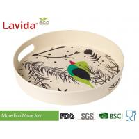 FDA LFGB Standards Bamboo Fiber Tray Stylish Design High Temperature Tolerance Manufactures