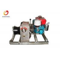 Buy cheap 3T 5T Engine Powered Diesel Cable Winch Sagging Operation In Line Construction from wholesalers