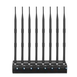 Adjustable 20 watt 8 Antennas 3G 4G Cellphone Jammer and UHF VHF Jammer Manufactures
