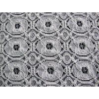 Shrink-Resistant Cotton Nylon Lace Fabric , Geometric Flower Fabric CY-LW0154 Manufactures