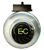 100mm EC Circular Duct Fan , High Speed Inline Duct Exhaust Fan Manufactures