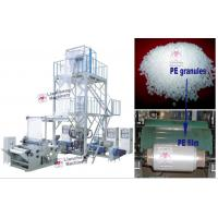 China LDPE / HDPE / LLDPE /PA/ PP LC-X3-FM1350 three layer co-extrusion PE film blowing machine on sale